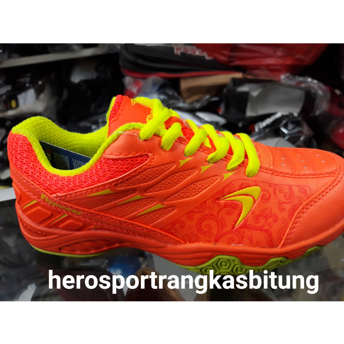 Sepatu Flypower Losari 2 New 2018 Ready Orange Badminton