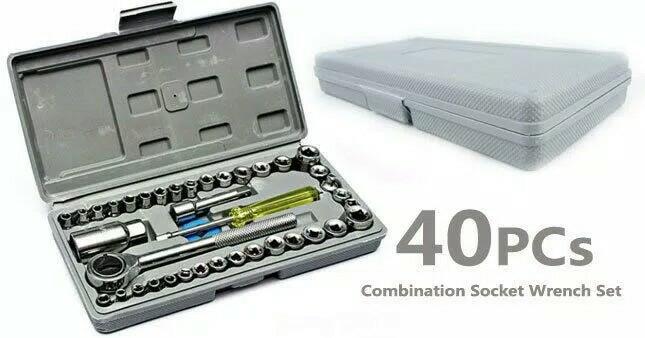 Foto Produk Tool Kit 40 in 1 Kunci Sock Shock Sok Pas Obeng Alat bengkel Set dari mscard