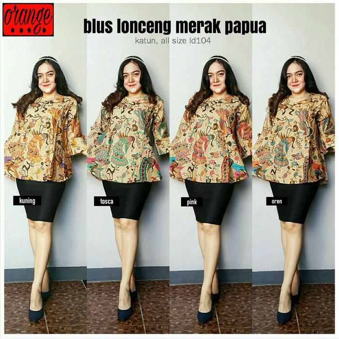 harga Atasan / blouse batik lonceng merak papua Tokopedia.com