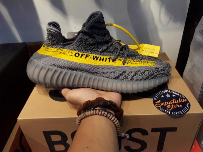 Jual Sepatu Adidas Yeezy Boost 350 V2 X Off White Beluga Yellow DKI Jakarta Sepatuku Store   Tokopedia
