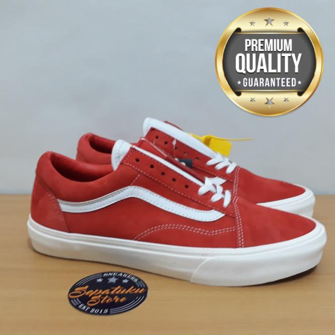 b752b2655c Jual Sepatu Vans Old Skool Vintage Rio Red - Premium Quality ...