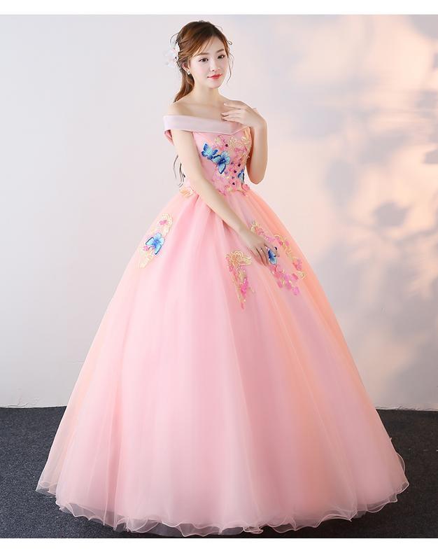 Jual Gaun Pengantin 1805008 Pink Sabrina Wedding Gown Kota Medan