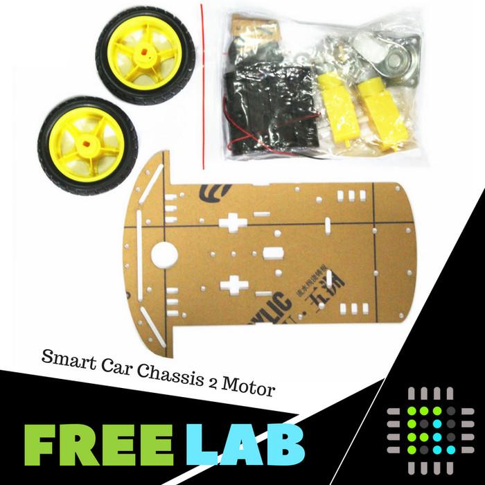 harga Smart car chassis bodi robot line follower 2 motor + 2 roda Tokopedia.com
