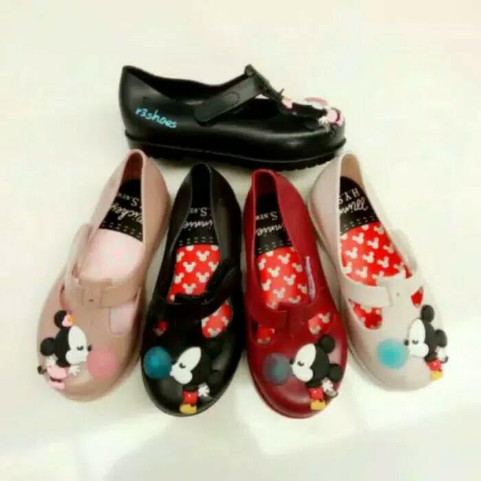 harga Sepatu sandal anak perempuan jelly shoes flat shoes anak cewek mickey Tokopedia.com