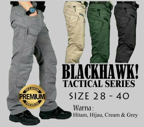 CELANA TACTICAL BLACKHAWK/ BLACK HAWK/ CELANA ARMY/ PDL