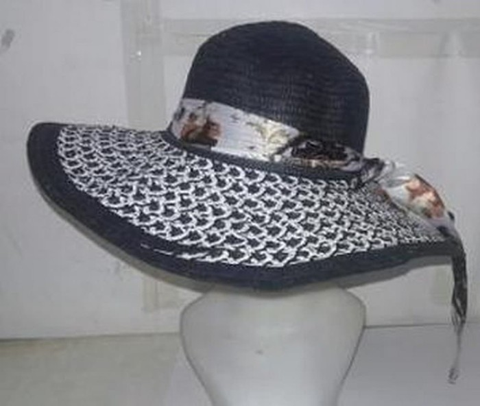 topi travel topi distro topi pantai floppy hat hitam an Limited