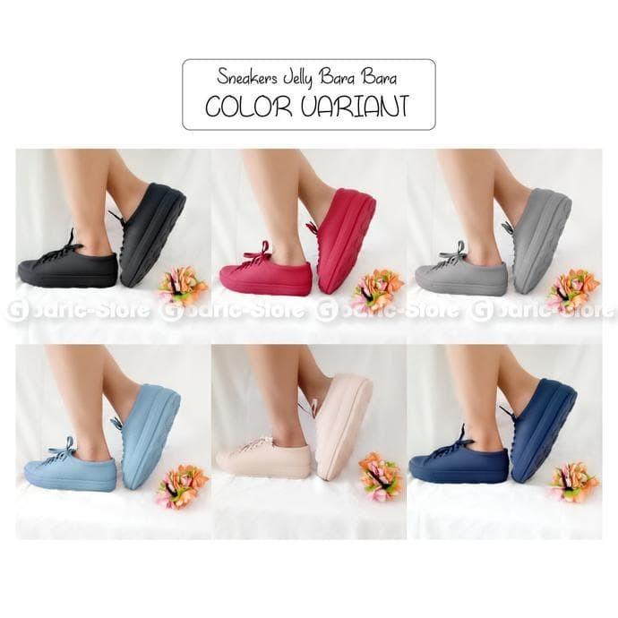 Jual Bara Bara Sepatu Jelly Sneakers Silikon Shoes Cewek Silicone Kets 3ada5e6456