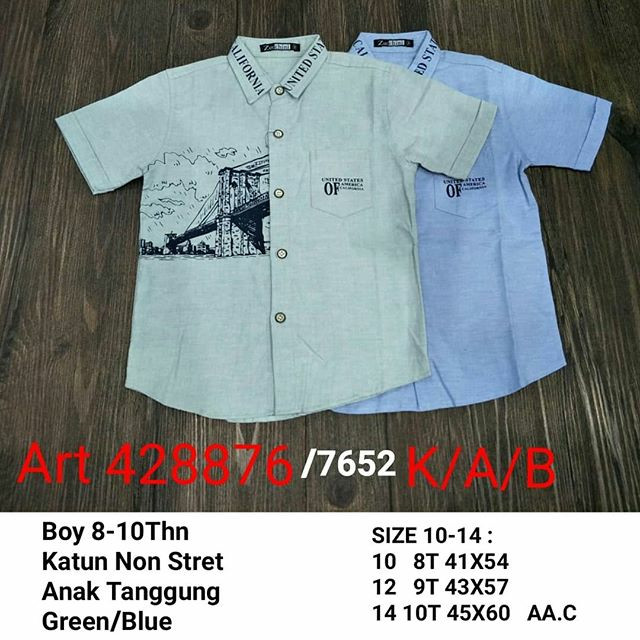 harga Baju anak tanggung kemeja korea anak laki import branded shirt 7652  Tokopedia.com dcc384d1f4