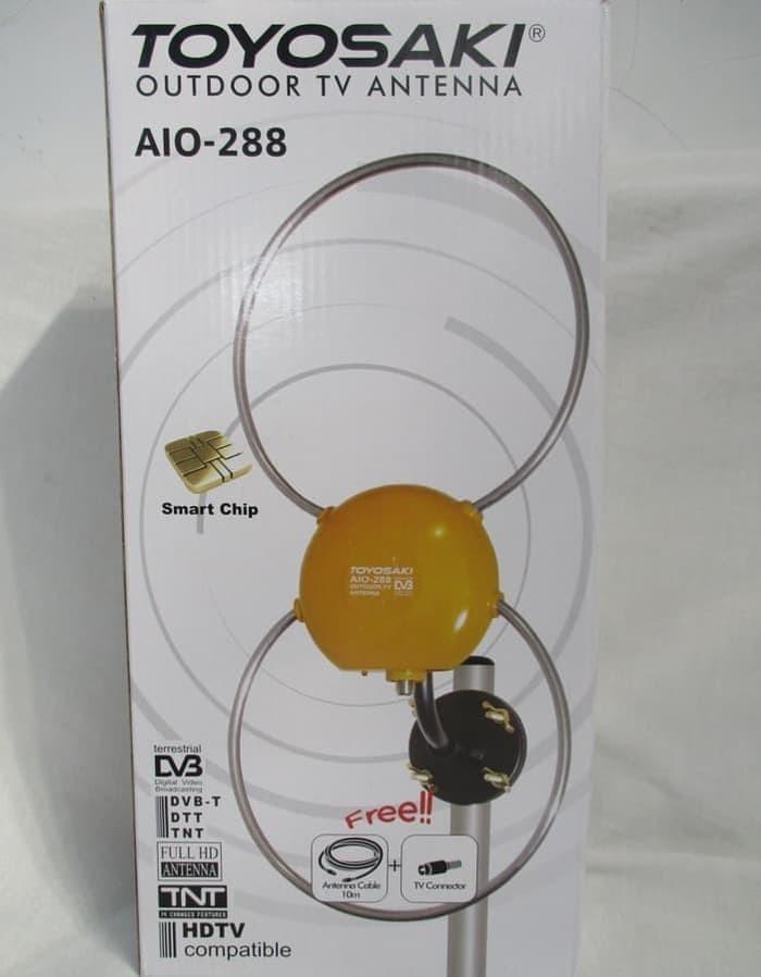 harga Aio 288 antena tv outdoor & indoor + booster/antena digital toyosaki Tokopedia.com