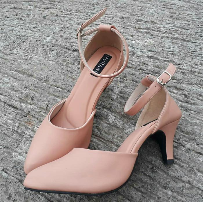 Jual Murano high heels 5 cm salem doff