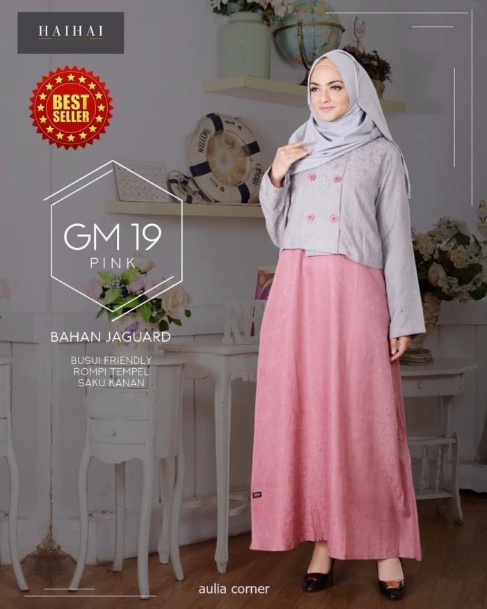 Jual Baru Busana Muslim Modern Haihai Gm 19 Peach Original Kab Mojokerto Luckycorner Tokopedia