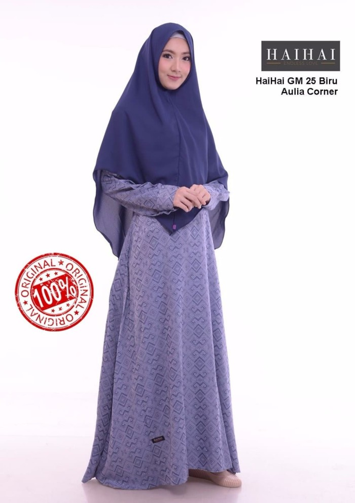 Jual Ekslusif Busana Muslim Wanita Haihai Gm 25 Biru Original Kab Mojokerto Luckystore57 Tokopedia