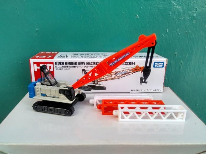 harga Tomica no 127 crane sumitomo long diecast miniatur alat berat murah Tokopedia.com