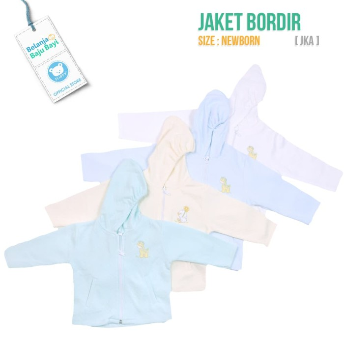 harga Jaket bayi newborn lucu fluffy [ jka ] - 0-3 bulan biru Tokopedia.com
