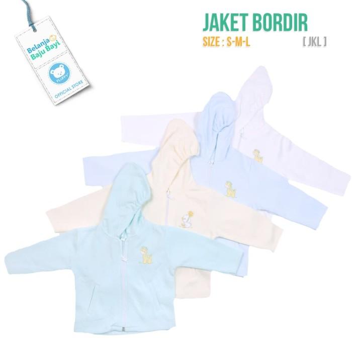 Foto Produk JAKET BAYI FLUFFY LUCU S-M-L BORDIR [ JKL-SML] - 3-6 Bulan, Baby Girl dari FLUFFY Baby Wear