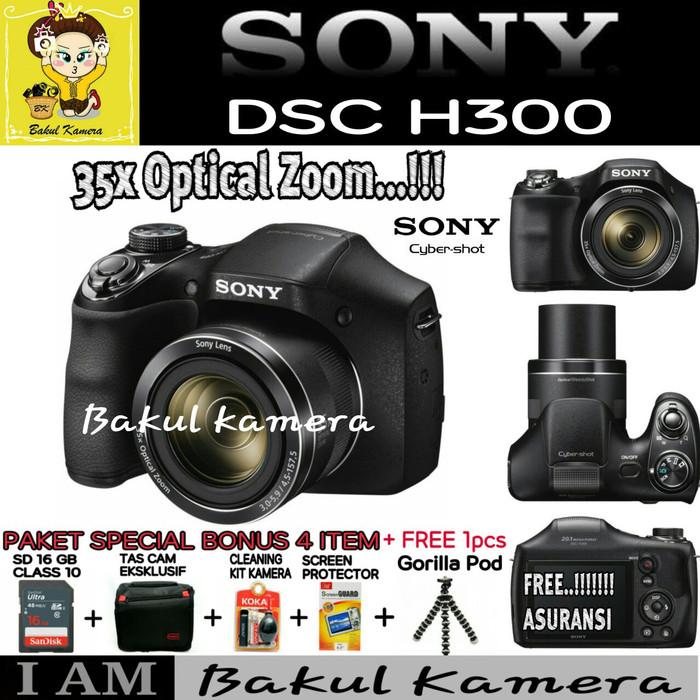 harga Sony dsc-h300 digital camera-20.1mp -35x optical zoom Tokopedia.com