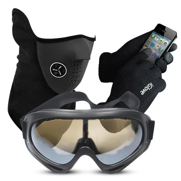 harga Paket aksesoris motor / masker / kacamata / sarung tangan Tokopedia.com