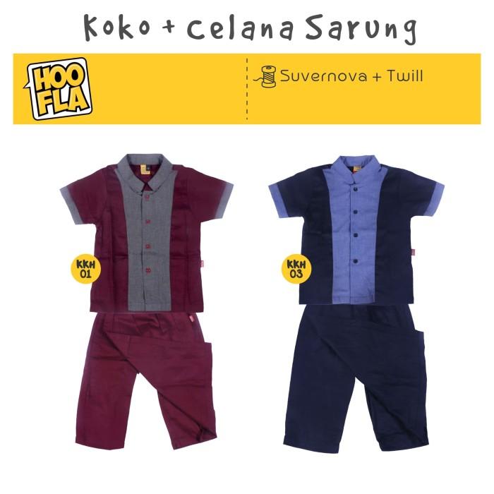 Baju Koko Anak Celana Sarung Terbaru Brand KKH 01