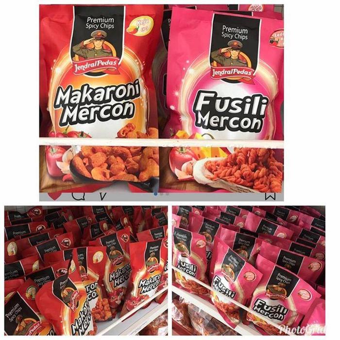 PREMIUM SPICY CHIPS. Source · Makaroni Mercon Jendral Pedas - Jagung Bakar .