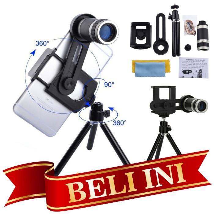 harga Universal lensa telezoom 8x tripod mobile phone telescope teleskop Tokopedia.com