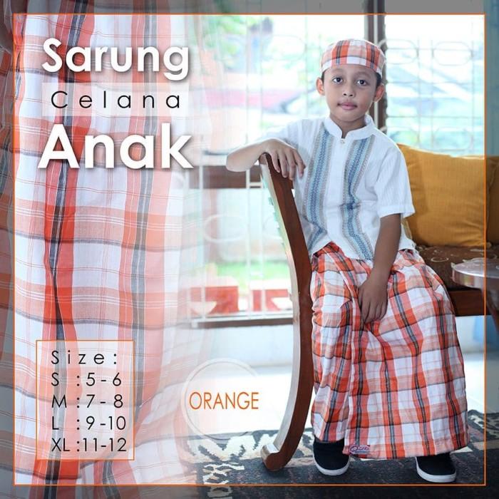 Sarung celana anak instan karakter uje free peci baju koko bagus