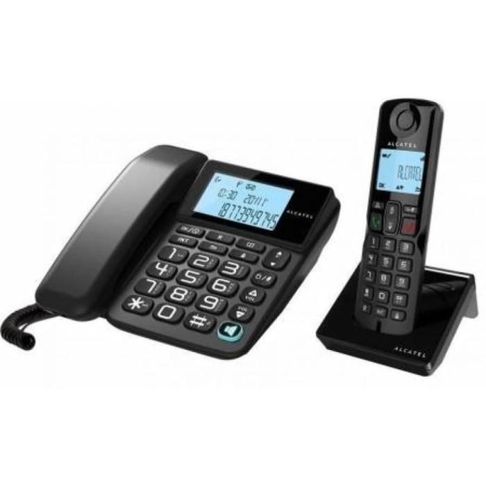 harga Alcatel s250 combo cordless + corded phone Tokopedia.com