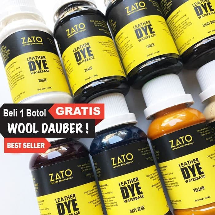 Foto Produk Zato Leather dye PRO | Pewarna Kulit | leather tool | leather tools dari ZATO INDONESIA