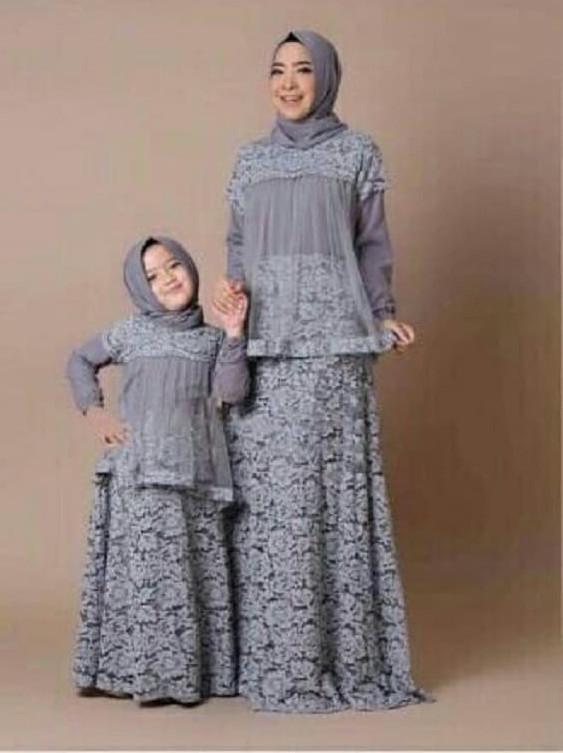 Jual Gamis Pesta Baju Couple Ibu Anak Maxi Maxy Dress Longdress