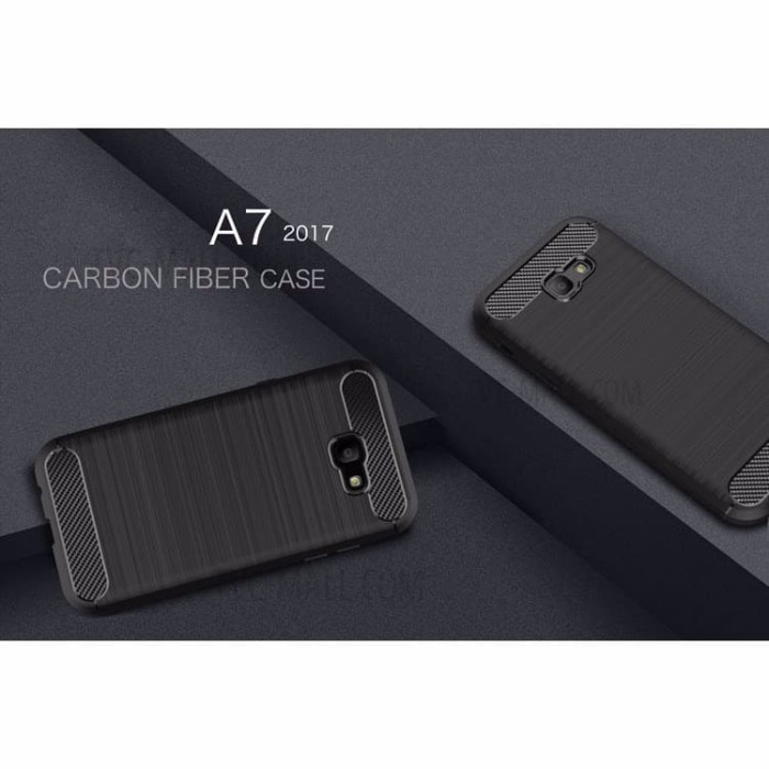 Case Case Samsung Galaxy A7 2017 Ipaky Carbon Fiber Soft Series