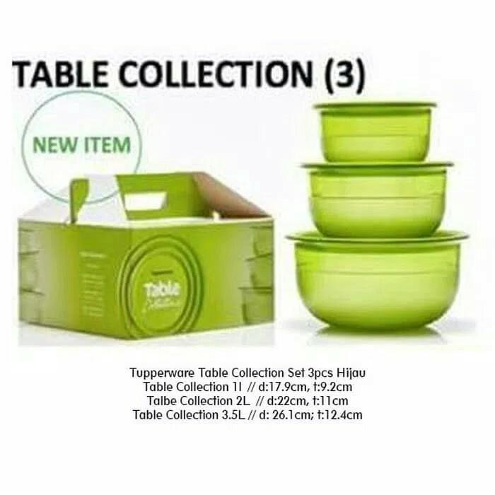 Table Collection Set Free Box Wadah Saji