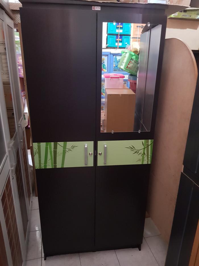 harga Lemari kayu anak lemari baju 2 pintu minimalis partikel board Tokopedia.com