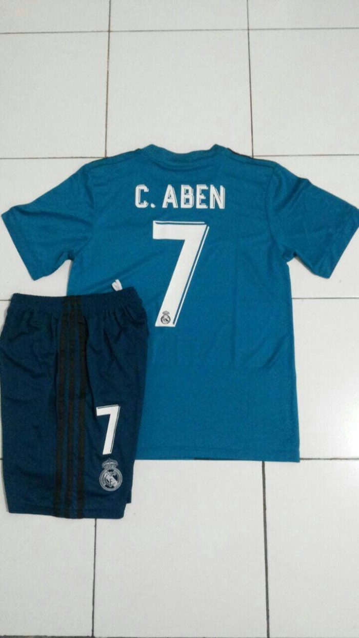 Jual Nameset Sablon Nama No Jersey Madrid Kids Away Anak Go 2017 2018