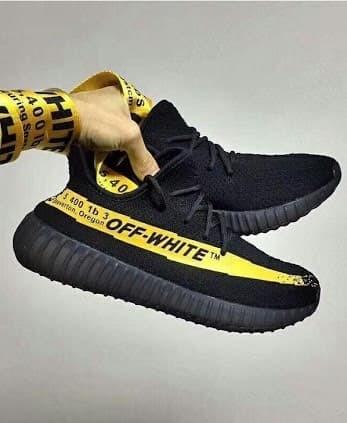 yeezy black yellow
