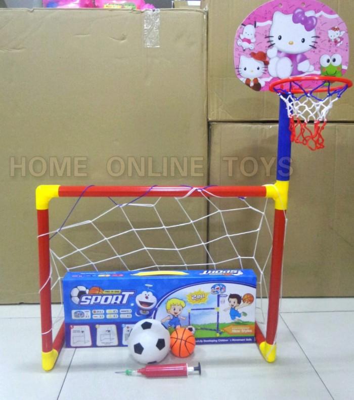 harga Mainan anak gawang rakit bola dan basket 2 in 1 / football and basket Tokopedia.com