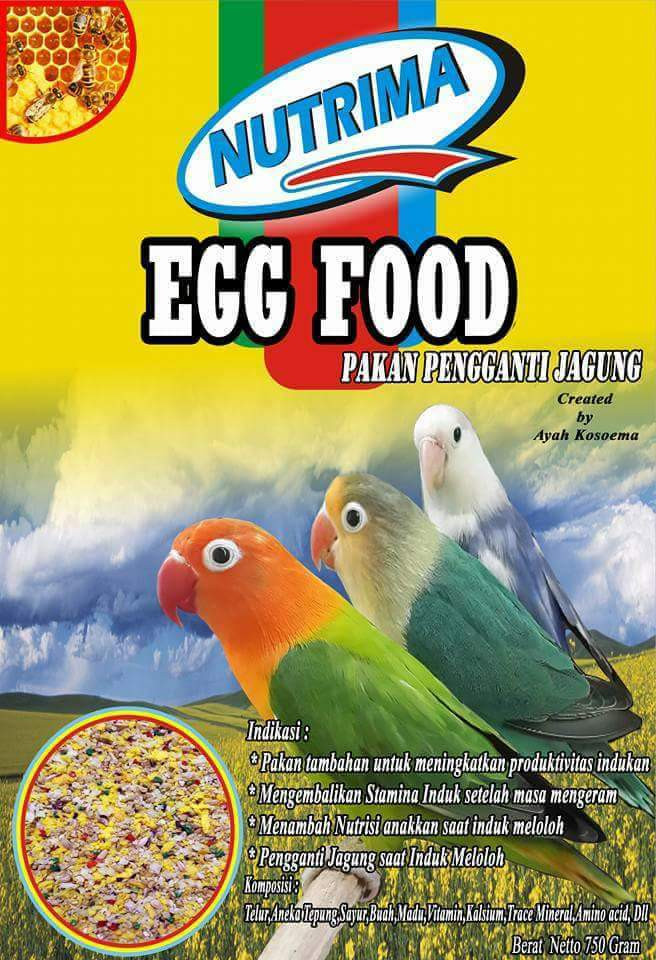 harga Egg food nutrima pakan burung love bird pengganti jagung saat produksi Tokopedia.com