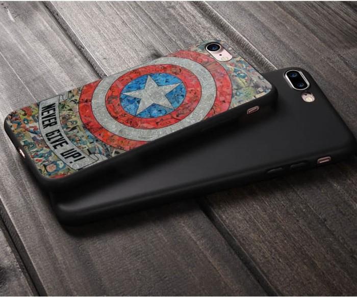Foto Produk High Quality Case iPhone 6 / 6s - Premium Black Silicone dari Doki Custom Case