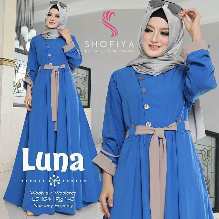 harga Gamis panjang muslim / luna dress Tokopedia.com