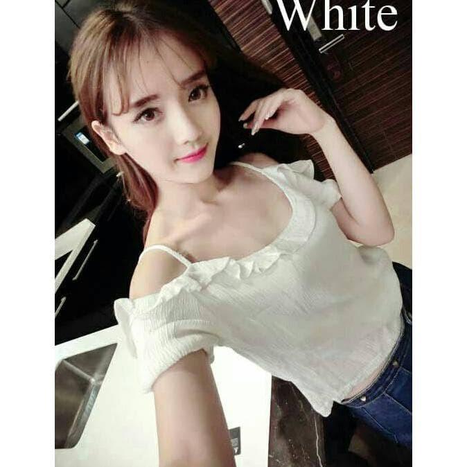 Liby Top Putih Atasan Wanita Atasan Sabrina Baju Sabrina Baju Wanita ... b1d61e2420