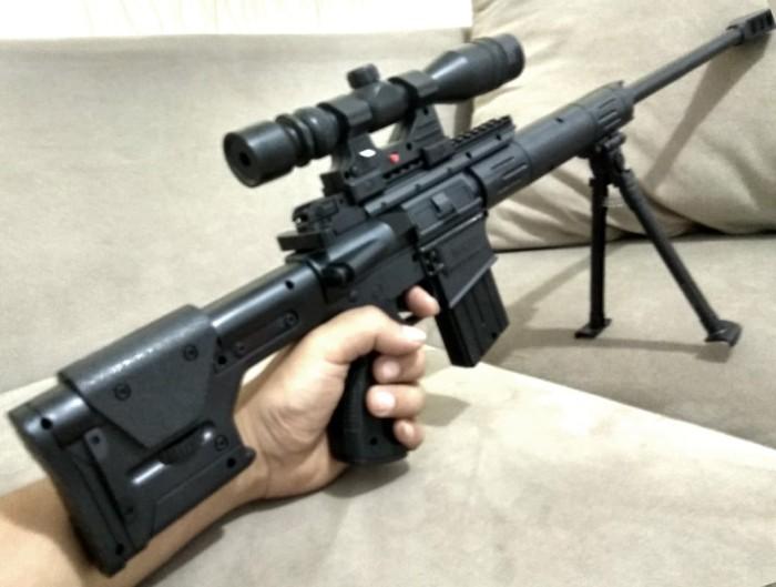 harga Mainan airsoft pistol senapan sniper barrett m378l mp900 mp3 mp 900 3 Tokopedia.com
