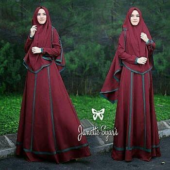 Atasan Wanita Muslim - Baju Muslim Janetta Syari Marun - Dzikri ... 80d317387c