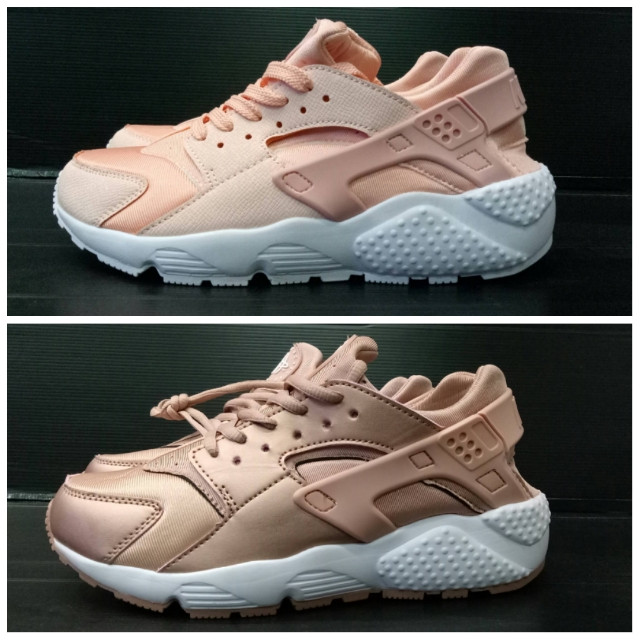official photos 2b9f3 fc40c sepatu nike huarache rose pink and gold women cewek wanita 37 - 40 - Rose  Gold, 40