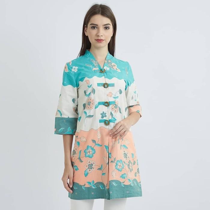 Blus Batik Pastel Tiffany Kencana Pajajaran