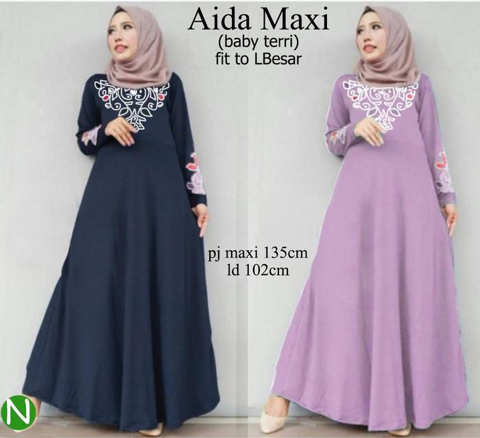 Atasan Wanita Muslim - Aida Maxi Dress Muslim - Dzikri Moeslim ... 22dcfb471d