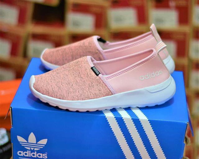 Jual Adidas Cloudfoam Slip On Peach Baby Pink Kota Medan