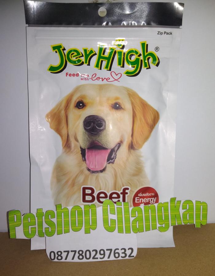 Jerhigh beef 70gr snack anjing jerhigh camilan anjing jerhigh