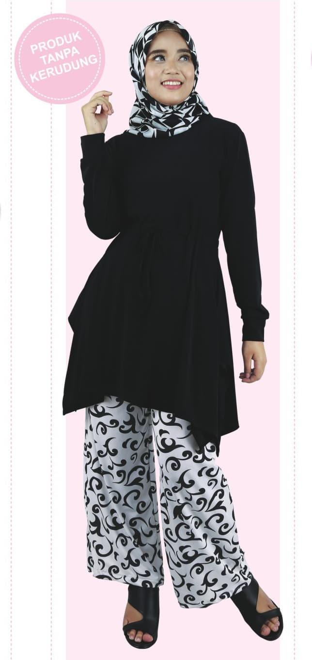 Jual Baju Busana Muslim Dress Gamis Pakistan Stelan Casual Wanita Hitam Kota Bandung Ibrahim Collections Tokopedia
