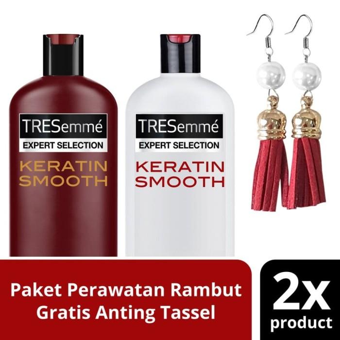 harga Paket tresemme keratin smooth:shampoo conditioner free tassel earing Tokopedia.com