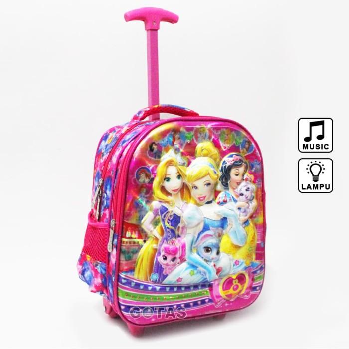 harga Tas roda troli princess 7d 2k pink lampu musik anak sekolah tk pg Tokopedia.