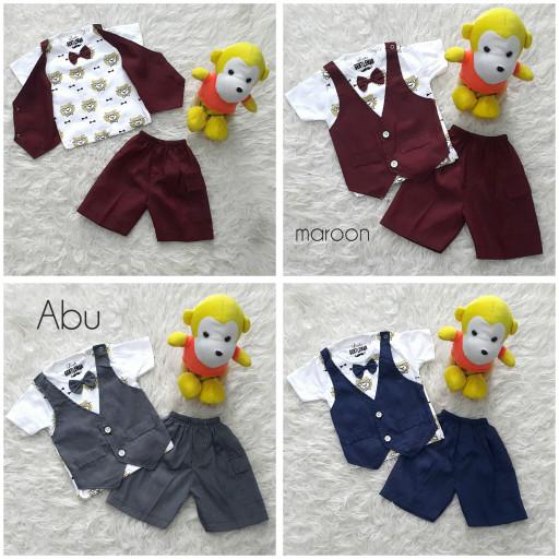 harga Baju bayi setelan jas tuxedo pesta kondangan anak laki rompi lion Tokopedia.com
