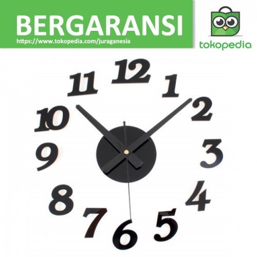 DIY Wall Clock 30-50cm Diameter - ELET00666   Jam Dinding - Hitam 880388f82b